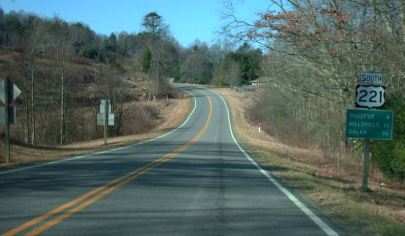 US 221 view